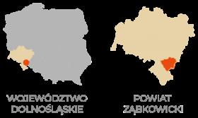 Powiat ząbkowicki - mapa