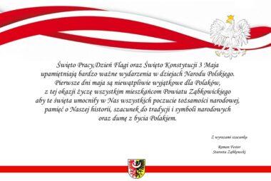 Święto Pracy,Dzień Flagi oraz Święto Konstytucji 3 Maja